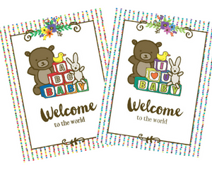 Welcome to the world new baby congrats greeting card