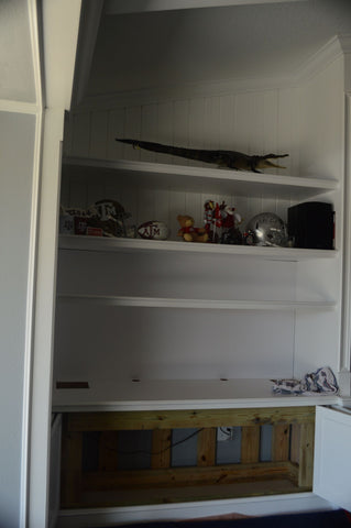 A built-in custom cabinet.