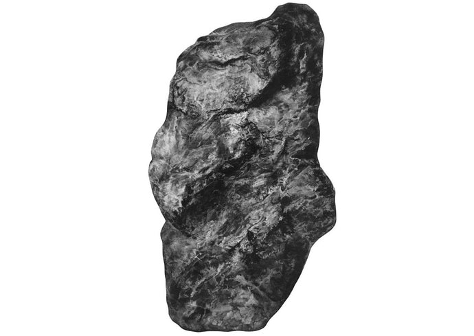black and white drawing of a rock