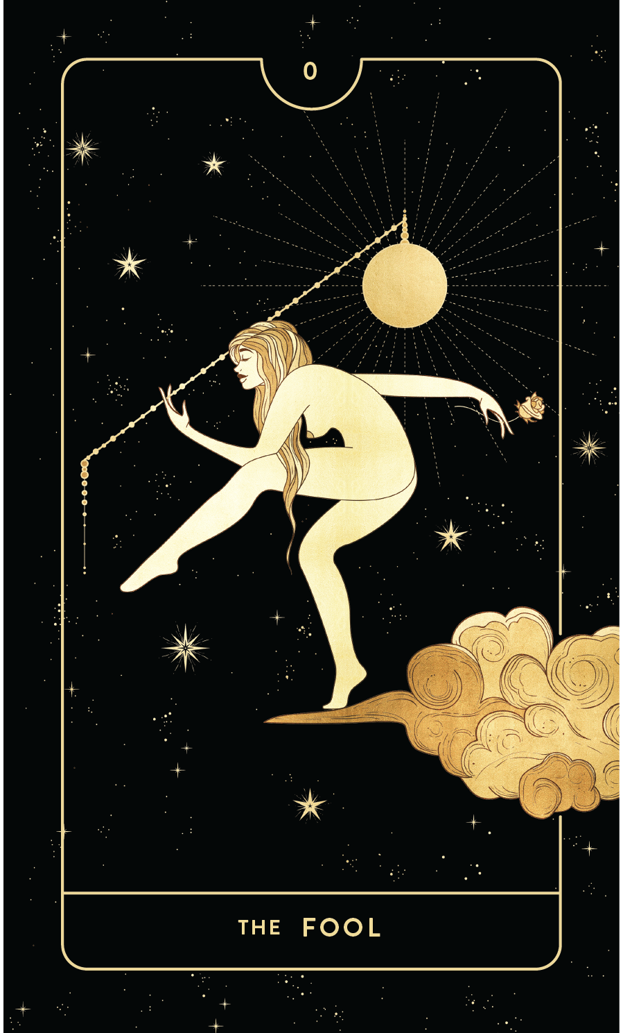 Divine Feminine Tarot Deck 0 The Fool by Cocorrina