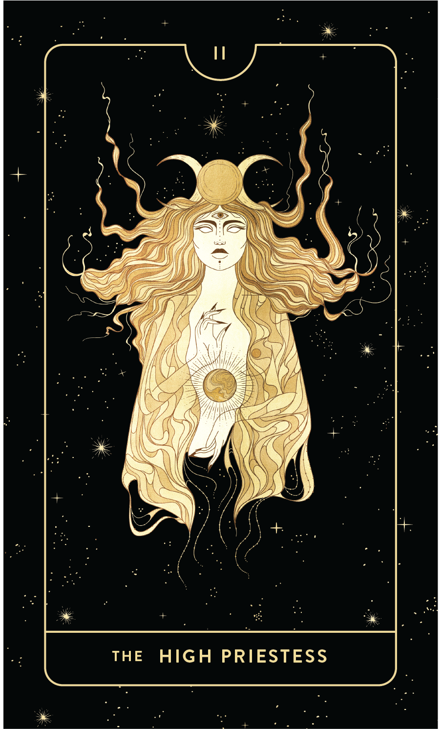 Divine Feminine Tarot Deck II The High Priestess by Cocorrina