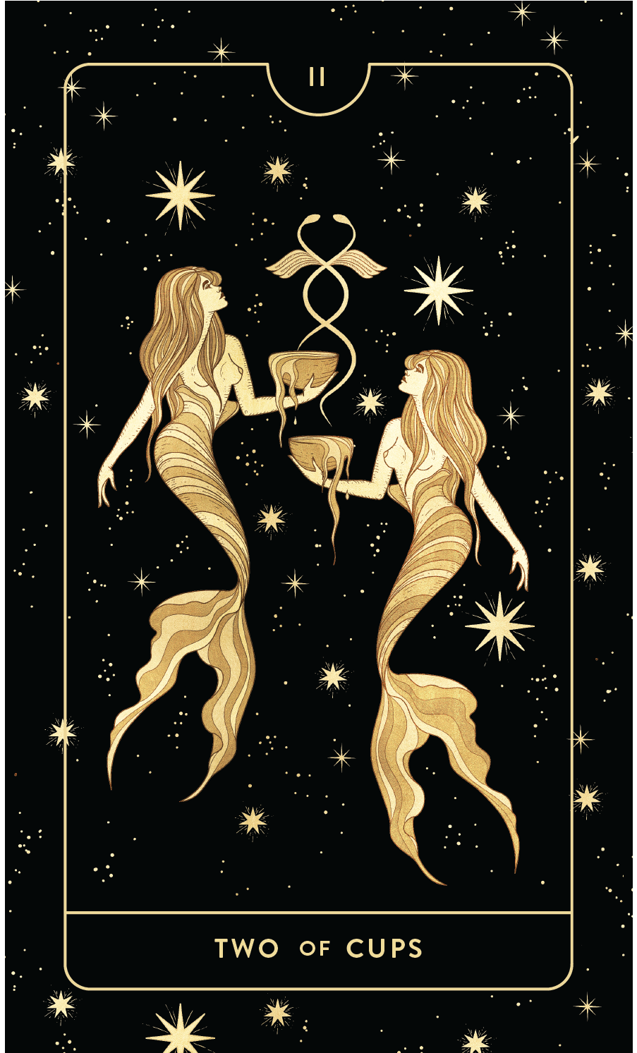 Divine Feminine Tarot Deck Two of Cups by Cocorrina