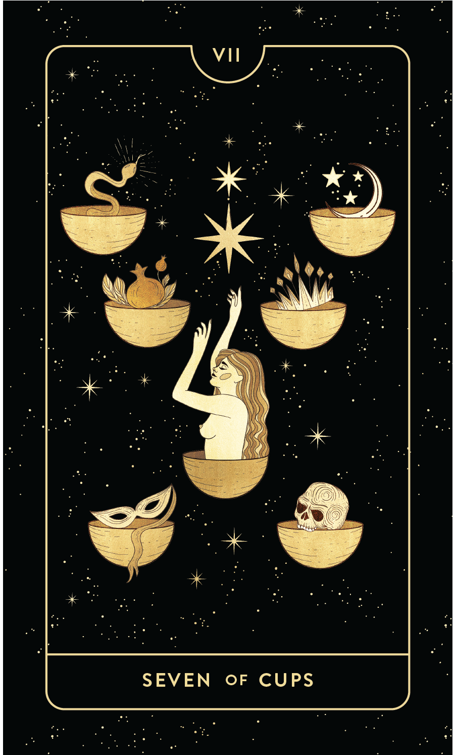 Divine Feminine Tarot Deck Seven of Cups by Cocorrina