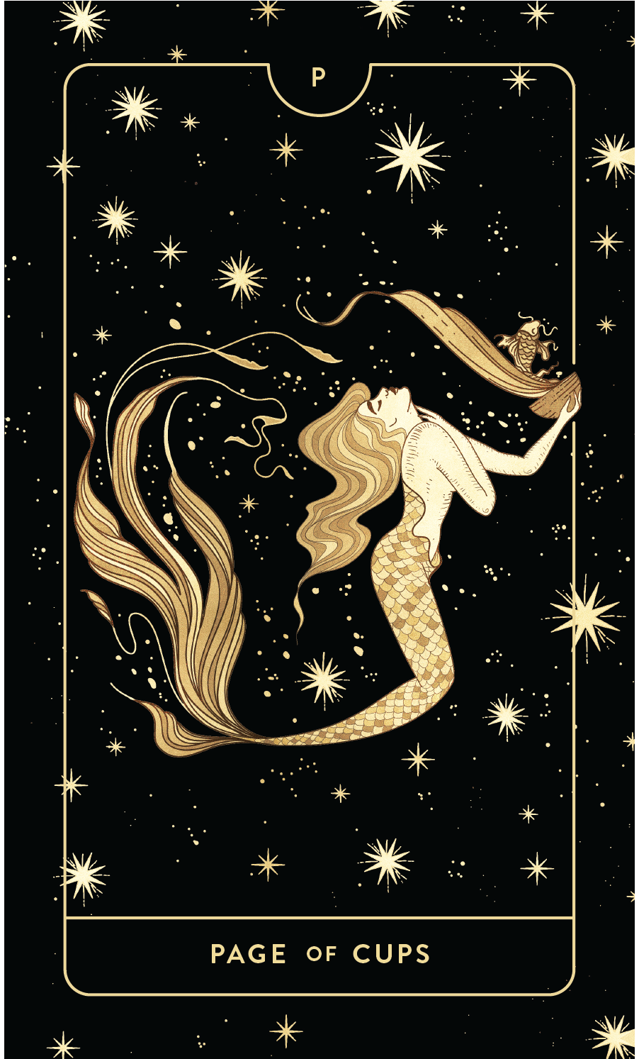 Divine Feminine Tarot Deck Page of Cups by Cocorrina