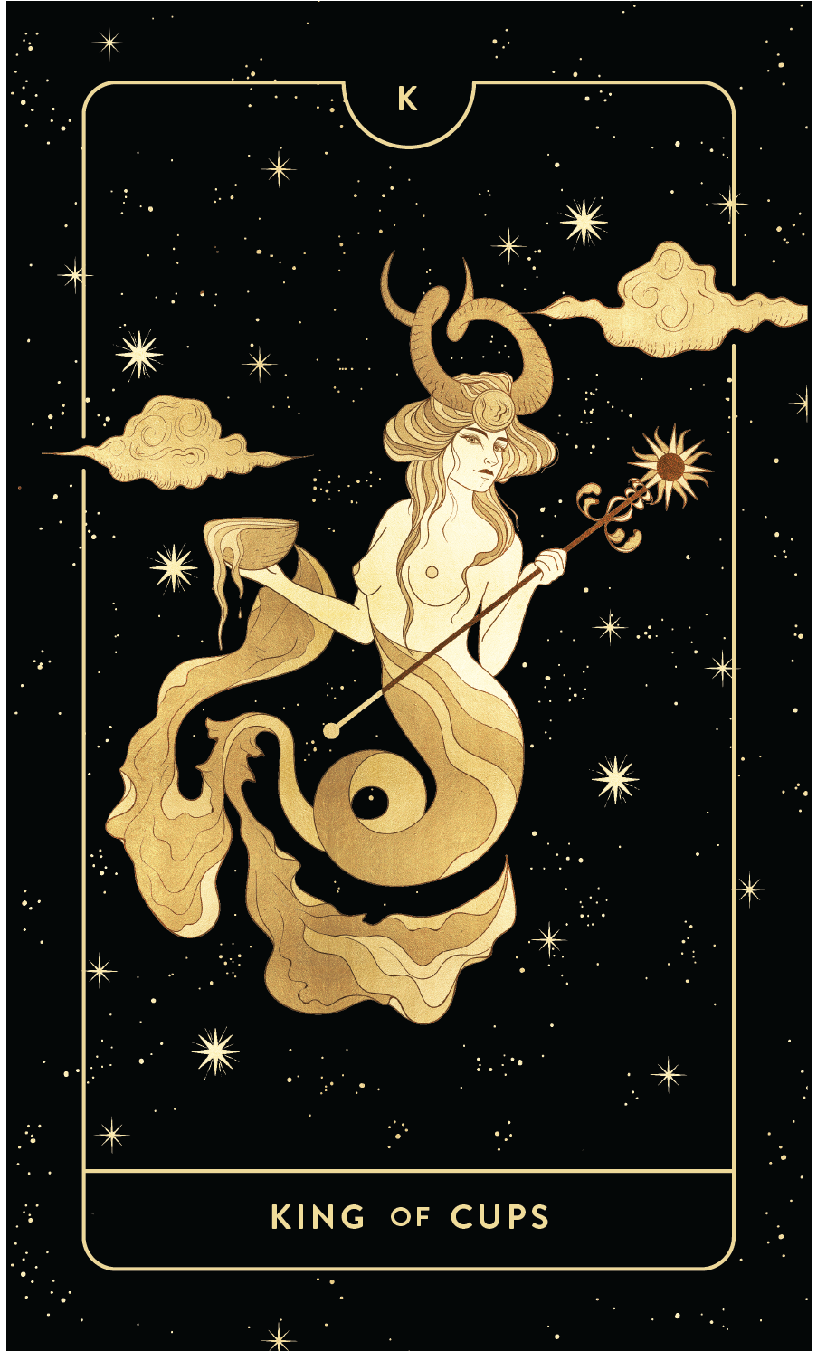 Divine Feminine Tarot Deck King of Cups  by Cocorrina
