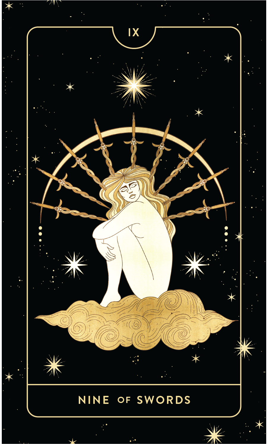Divine Feminine Tarot Deck Nine of Pentacles by Cocorrina