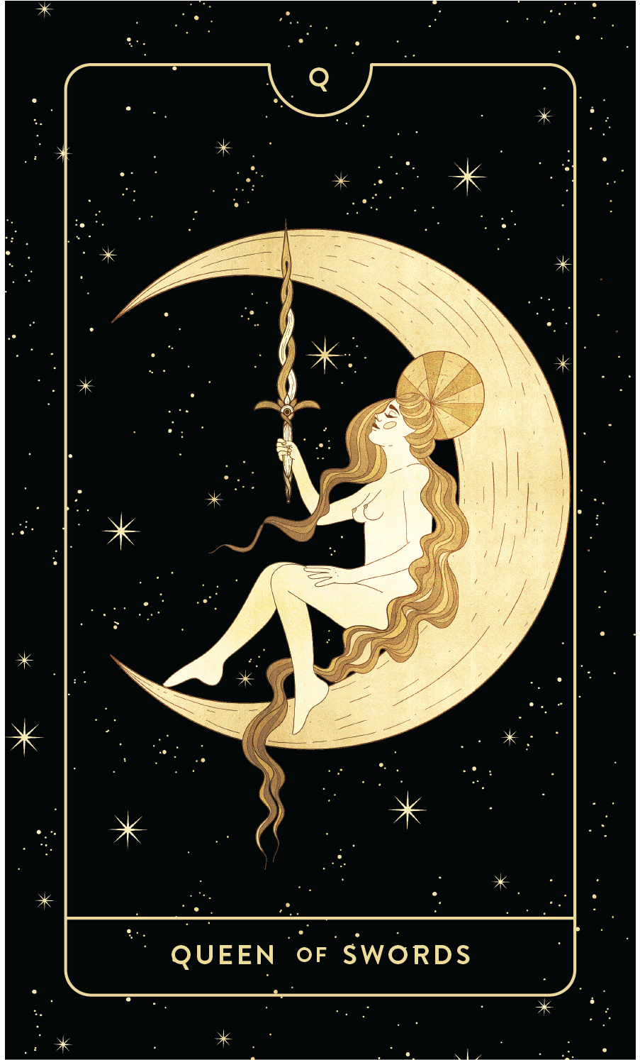 Divine Feminine Tarot Deck Queen of Swords  by Cocorrina