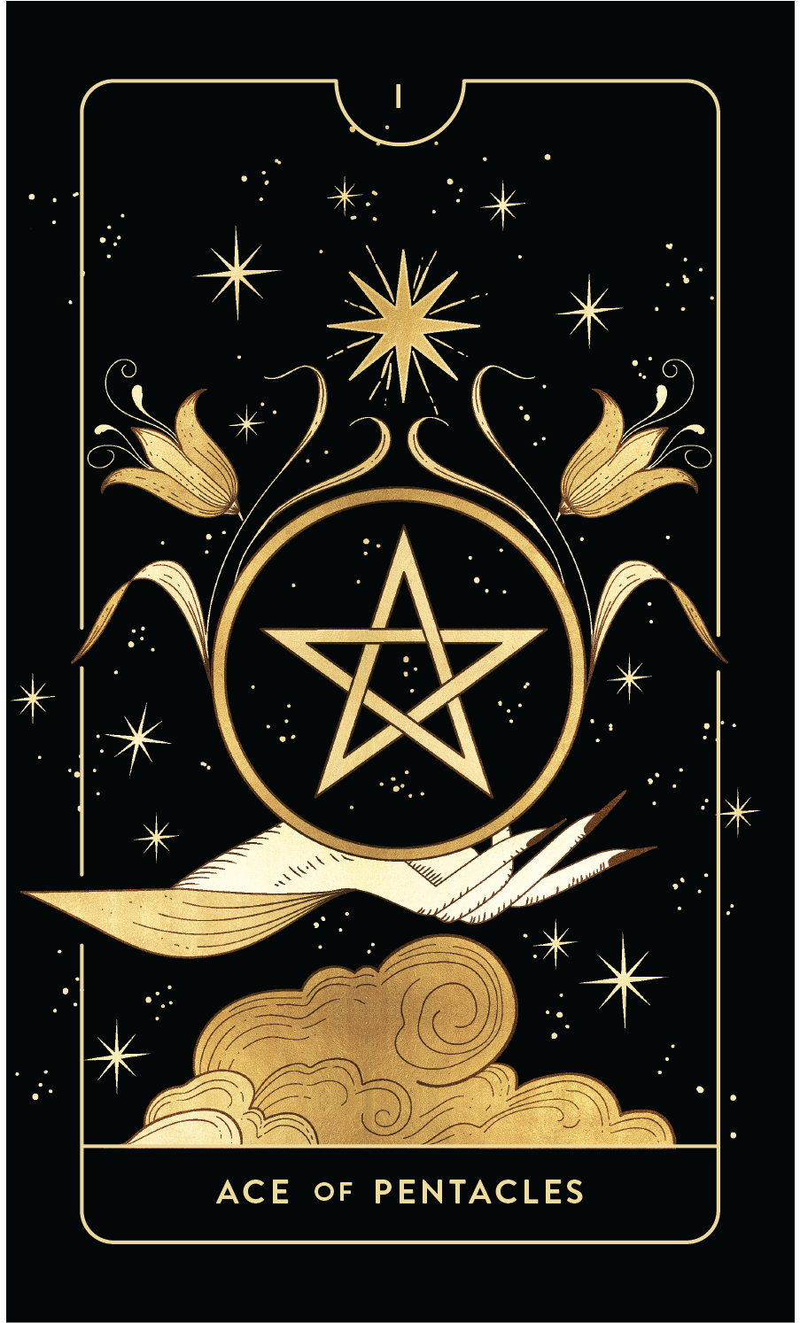 Divine Feminine Tarot Deck  Ace of Pentacles  by Cocorrina
