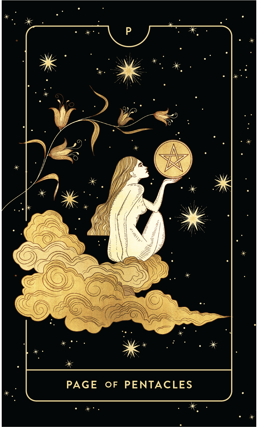 Divine Feminine Tarot Deck Page of Pentacles  by Cocorrina