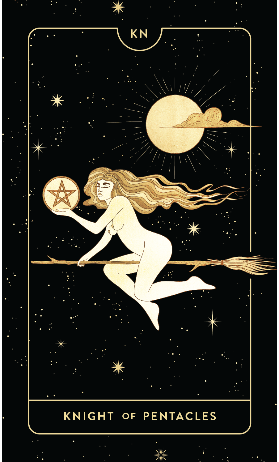 Divine Feminine Tarot Deck Knight of Pentacles  by Cocorrina