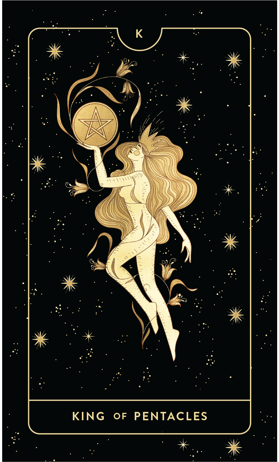 Divine Feminine Tarot Deck  King of Pentacles  by Cocorrina