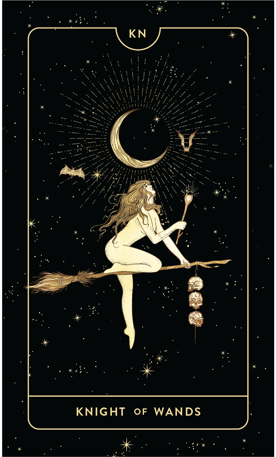 Divine Feminine Tarot Deck Knight of Wands by Cocorrina
