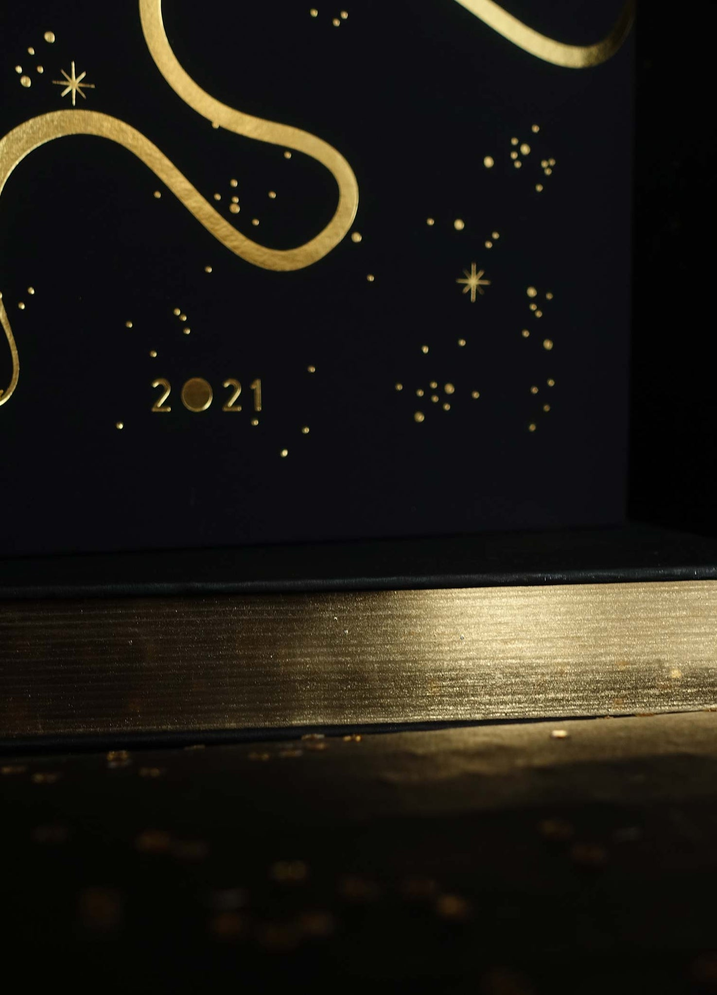Elaphe Gold Edition 2021 Planner Calendar Black with gold foil by Cocorrina Shop