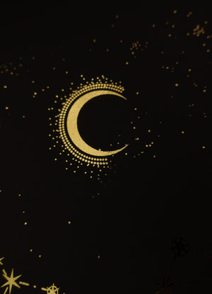 Canis Major constellation gold foil print by Cocorrina & Co studio