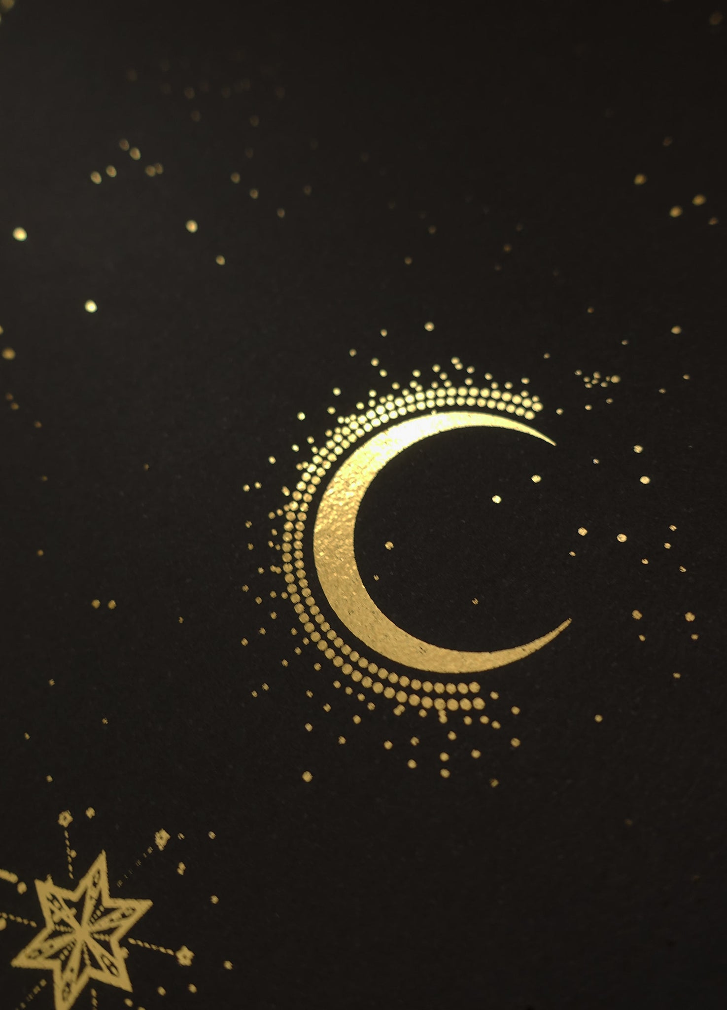 Cassiopeia constellation gold foil print by Cocorrina & Co studio