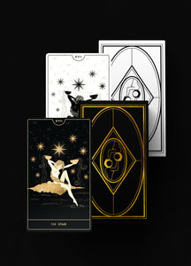 Divine Feminine Tarot Deck Bundle in Nocturnal and Diurnal (White and Black) by Cocorrina & Co Shop