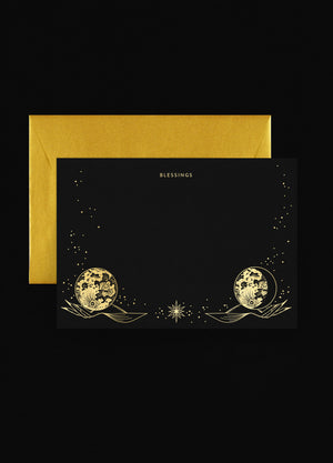 The Moon in your Hands - Set of 10 Flat Cards