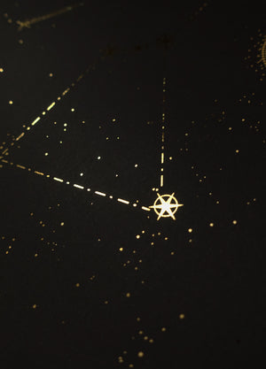 Orion Constellation gold foil print by Cocorrina & co studio