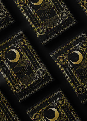 Tarot Journal a diary for readings with hardcover and gold foil, moon and stars by Cocorrina