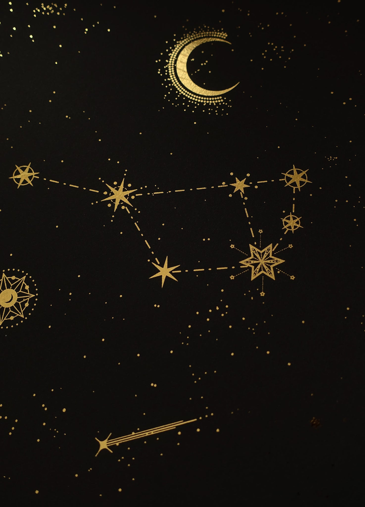 The Pleiades / seven sisters gold foil print by Cocorrina & Co studio