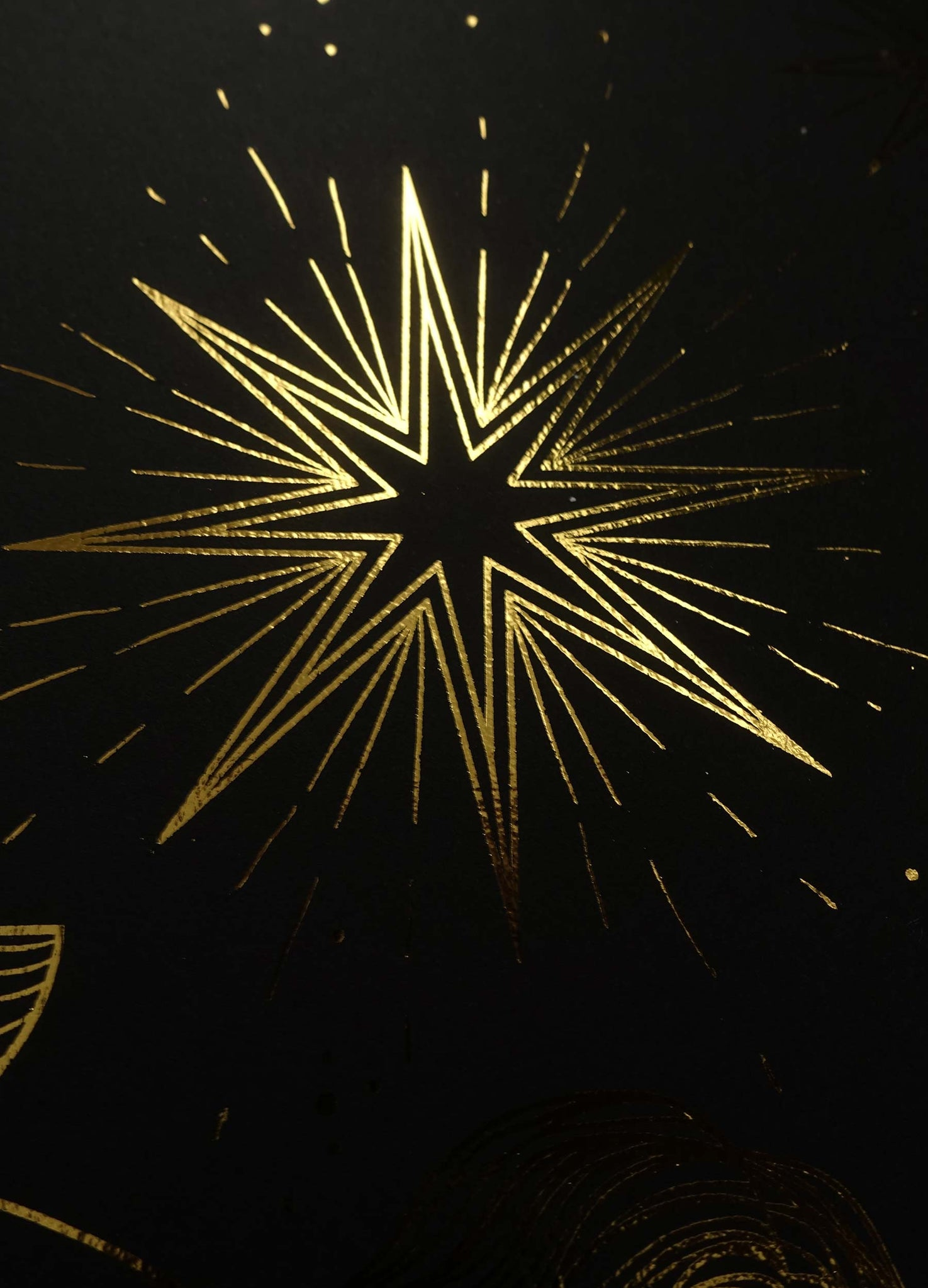 The Star Tarot gold foil art print on black paper by Cocorrina & Co design studio and shop