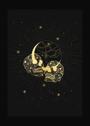 Till Death gold foil art print on black paper by Cocorrina & Co Design Studio and Shop