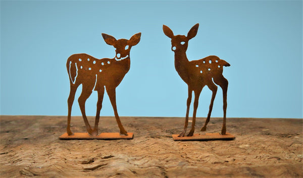 Fawn Pop-up Pedestal Looking Over Shoulder