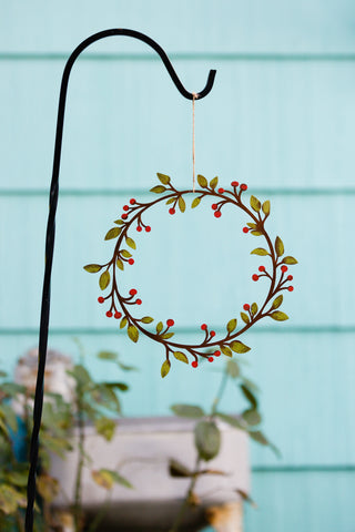 Small Leaf & Berry Wreath - Various Colors Available