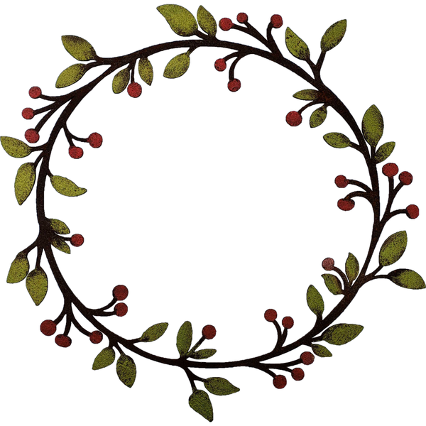 Large Leaf & Berry Wreath - Various Colors Available