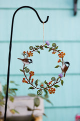 Chickadees & Flowers Wreath