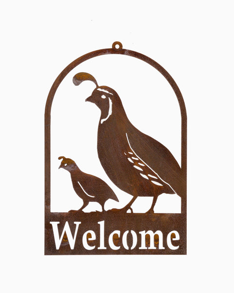Quail and Chick Roundtop Welcome