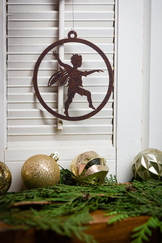 Skipping Boy Fairy 5-inch Ornament