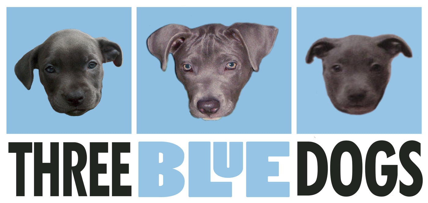 Three Blue Dogs