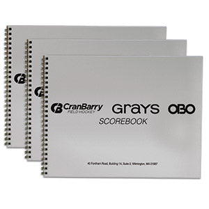 New CranBarry Field Hockey Scorebook - Set of 3
