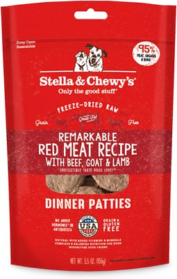 Stella and Chewy's  Remarkable Red Meat Freeze-Dried Raw Dinner Patties