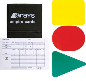 New GRAYS Official's Field Hockey Warning Cards
