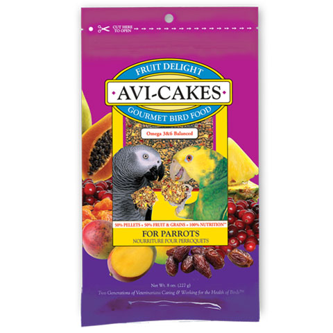 Lafeber Fruit Delight Avi-Cakes for Parrots 8oz