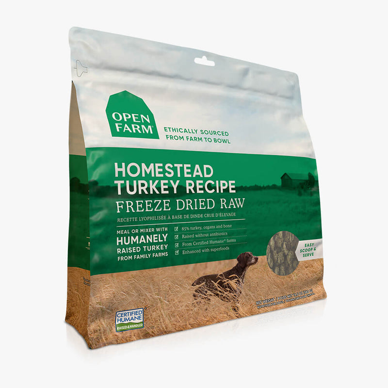 OPEN FARM Homestead Turkey Freeze Dried Raw Dog Food
