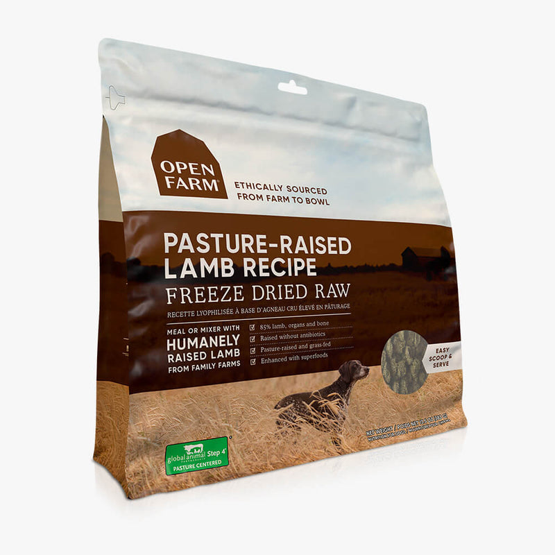 OPEN FARM Pasture-raised Lamb Freeze Dried Raw Dog Food