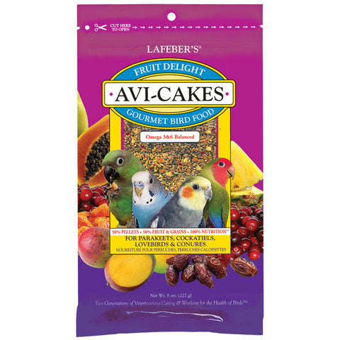 Lafeber Fruit Delight Avi-Cakes for Small Birds 8oz