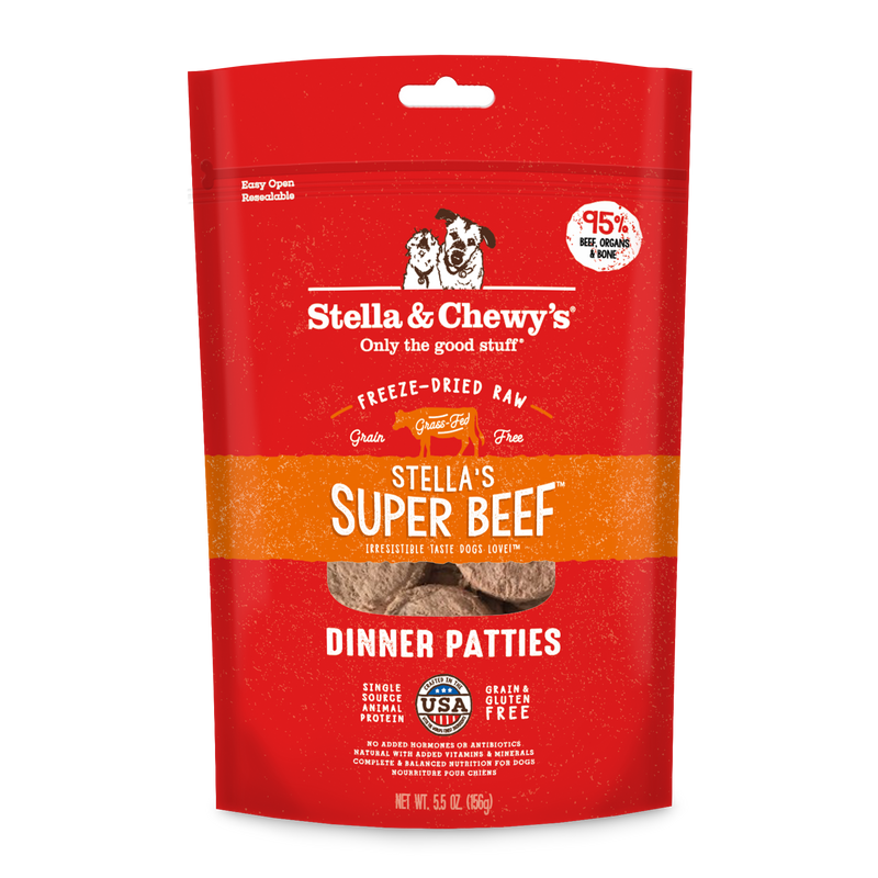 Stella's Super Beef Freeze-Dried Raw Dinner Patties