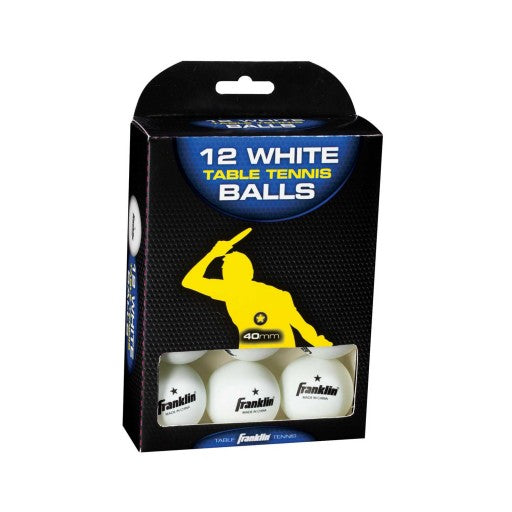 FRANKLIN 40MM (1) STAR WHITE TABLE TENNIS BALLS