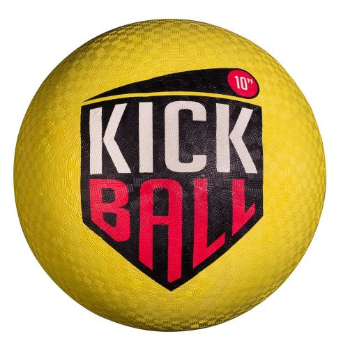 "FRANKLIN 10"" RUBBER KICKBALL - YELLOW"