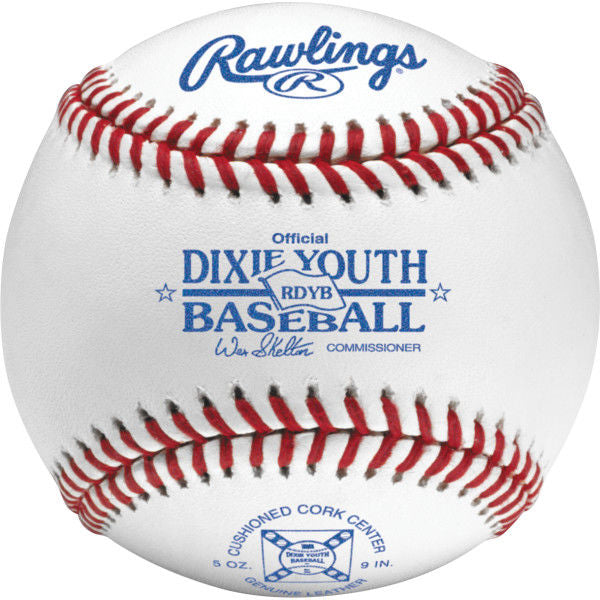 Rawlings Dixie Youth Baseball Official Baseballs - Dozen, Cushioned Center