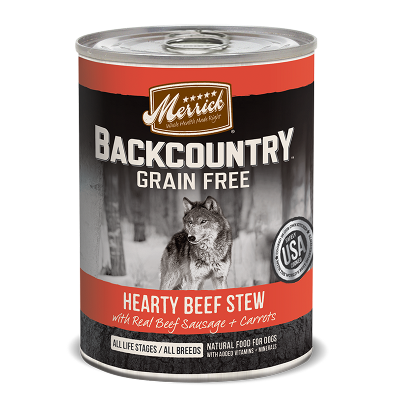 Merrick Backcountry Grain Free Hearty Beef Stew Wet Dog Food