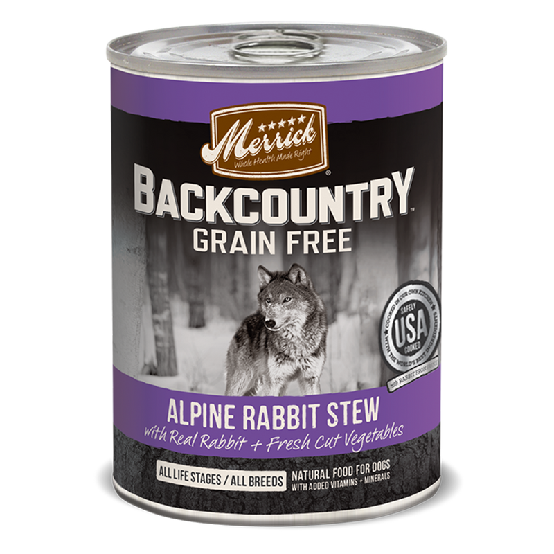 Merrick Backcountry Grain Free Alpine Rabbit Stew Wet Dog Food