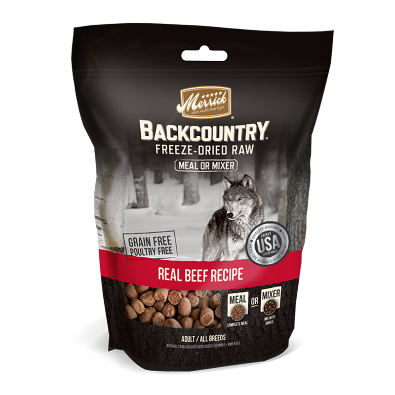 Merrick Backcountry Freeze-Dried Raw Meal Mixer Real Beef Recipe