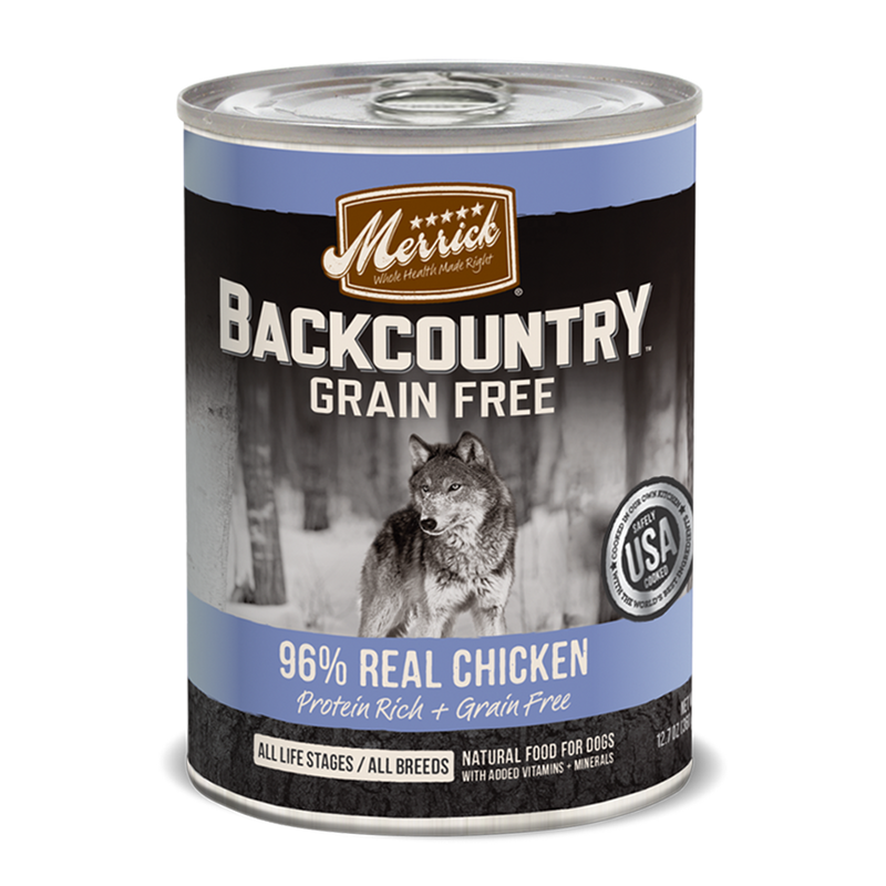 Merrick Backcountry Grain Free 96% Real Chicken Wet Dog Food