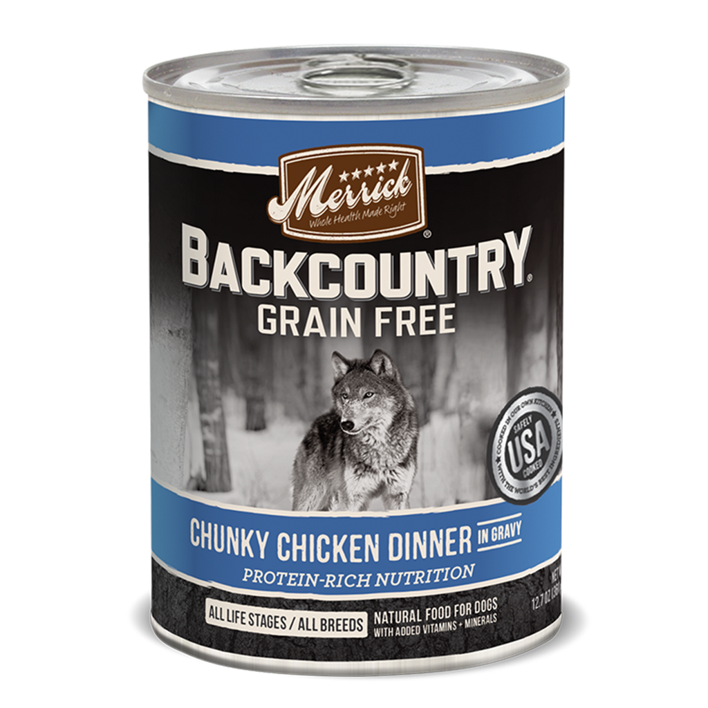 Merrick Backcountry Chunky Chicken Dinner in Gravy Wet Dog Food