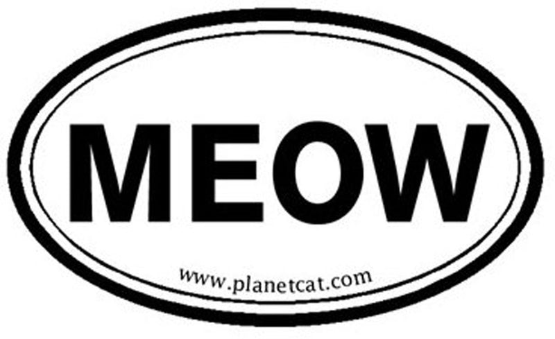 Planet Dog  Euro Sticker - MEOW